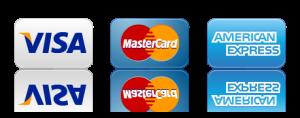 accepted credit cars, american express, visa, mastercard