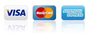 accepted credit cars, american express, visa, mastercard